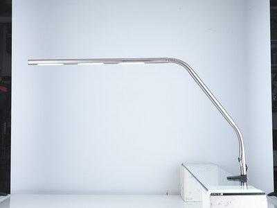 Eindereeks: Slimline Tafellamp 9W met tafelklem - Daylight D35127